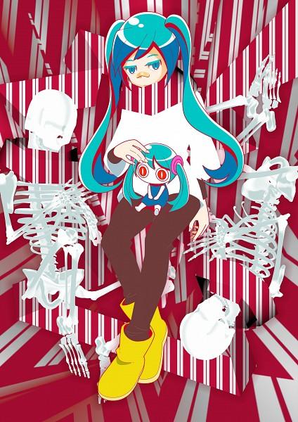 Tags: Anime, Pixiv Id 27147, VOCALOID, Aimaina, Hatsune Miku, Patch On The Nose, Mobile Wallpaper, Arifureta Sekai Seifuku, Common World Domination