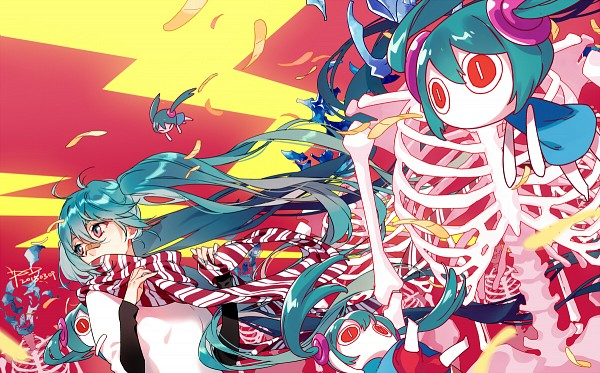 Tags: Anime, PSD, VOCALOID, Hatsune Miku, Aimaina, Patch On The Nose, Fanart From Pixiv, Fanart, Hatsune Miku Day, Arifureta Sekai Seifuku, Pixiv, Common World Domination
