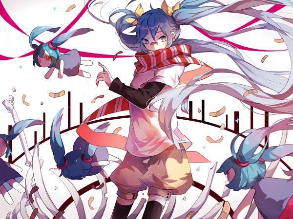 Tags: Anime, Pixiv Id 8397507, Project DIVA Arcade Future Tone, VOCALOID, Hatsune Miku, Aimaina, Patch On The Nose, Ribs, Fragments, Puffy Shorts, Yellow Shorts, PNG Conversion, Project DIVA Arifureta Miku, Common World Domination