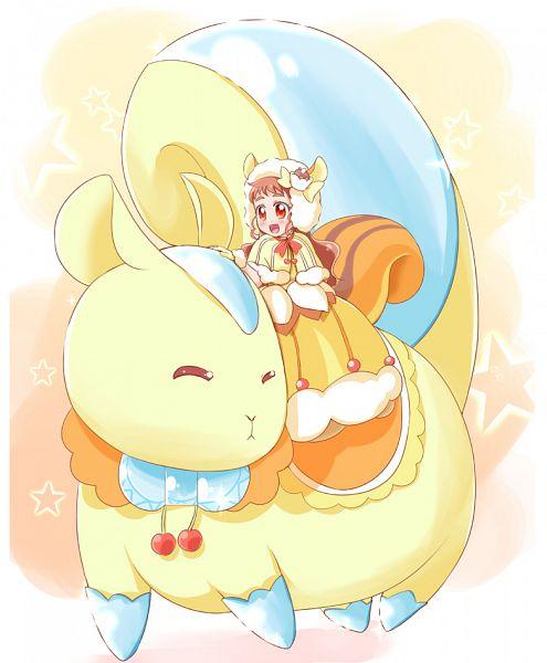 Tags: Anime, Pixiv Id 1046271, Kirakira☆Precure a la Mode, Arisugawa Himari, Gown, Squirrel, Giant Animal, Fanart From Pixiv, Pixiv, Fanart