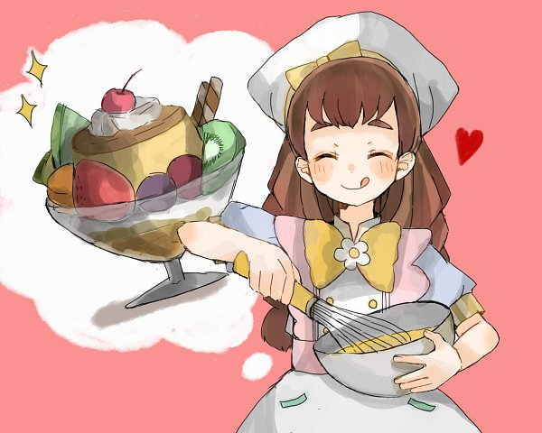 Tags: Anime, Pixiv Id 14317671, Kirakira☆Precure a la Mode, Arisugawa Himari, Thinking, Pudding, Whisk, Pixiv, Fanart, Fanart From Pixiv