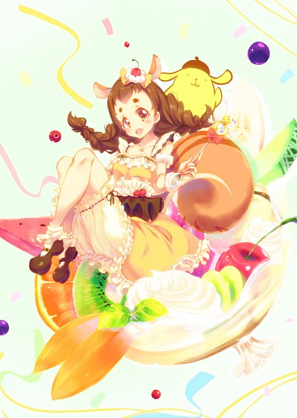 Tags: Anime, Pixiv Id 380554, Kirakira☆Precure a la Mode, Arisugawa Himari, Cure Custard (Cosplay), Pixiv, Fanart, Fanart From Pixiv