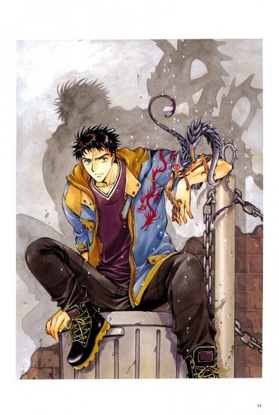 Tags: Anime, CLAMP, X, X Infinity, Arisugawa Sorata, Chinese Dragon, Scan, Official Art