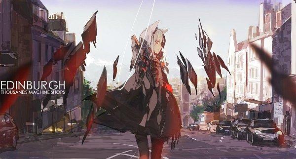 Tags: Anime, Lowlight Kirilenko, Arknights, Character Request