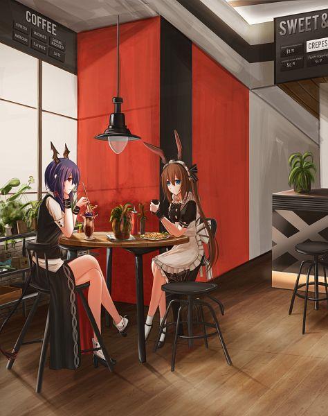 Tags: Anime, Pixiv Id 3217123, Arknights, Ch'en, Amiya