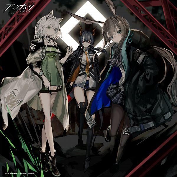 Tags: Anime, Naruwe, HyperGryph, Arknights, Ch'en, Amiya, Kal'tsit, Official Art