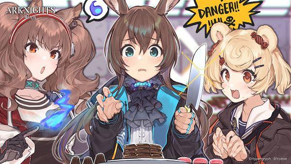 Tags: Anime, Teshima Nari, HyperGryph, Arknights, Amiya, Gummy (Arknights), Angelina (Arknights), Official Art