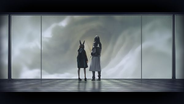 Tags: Anime, HyperGryph, Arknights, Amiya, Doctor (Arknights), CG Art