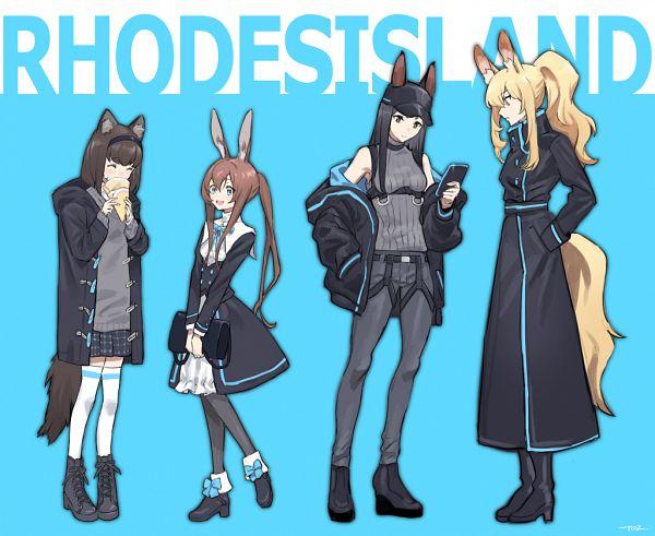 Tags: Anime, Pixiv Id 50456568, Arknights, Nearl, Amiya, Medic (Arknights), Dobermann