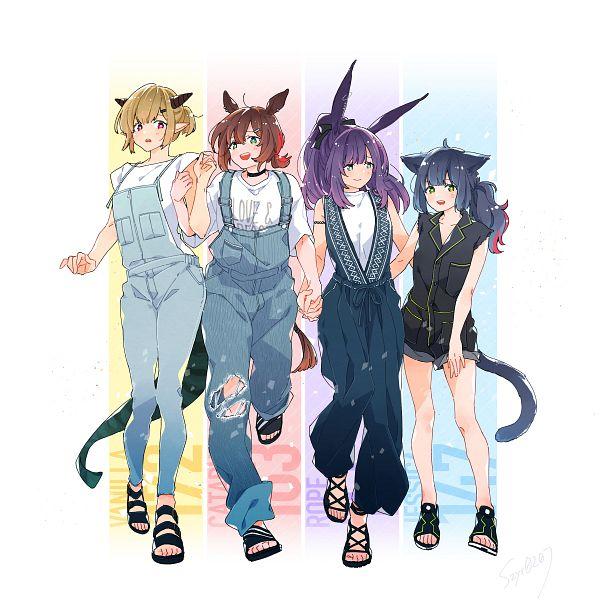 Tags: Anime, Pixiv Id 3671285, Arknights, Vanilla (Arknights), Catapult (Arknights), Jessica (Arknights), Rope (Arknights)