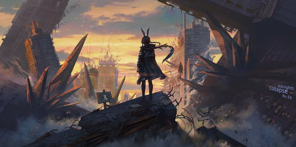 Tags: Anime, Pixiv Id 37145769, Arknights, Amiya, Doctor (Arknights), Fanart, Fanart From Pixiv, Pixiv