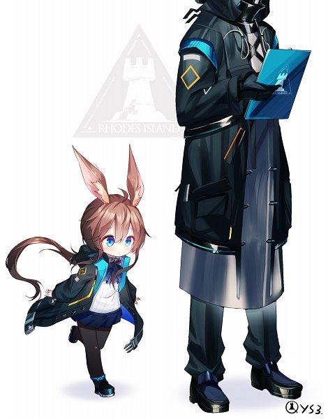 Tags: Anime, Qian Ye 2.S, Arknights, Doctor (Arknights), Amiya, Fanart From Pixiv, Pixiv, Fanart