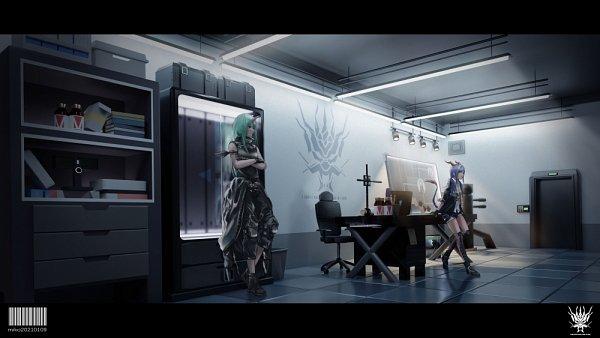 Tags: Anime, Pixiv Id 40380635, Arknights, Hoshiguma, Ch'en, Fanart From Pixiv, Pixiv, Fanart