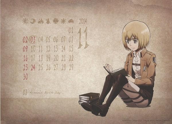Tags: Anime, WIT STUDIO, Attack on Titan, Shingeki no Kyojin School Calendar, Armin Arlert, Official Art, Scan, Calendar 2014, Calendar (Source)