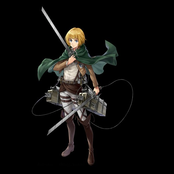 Tags: Anime, gumi Inc., Attack on Titan, Crystal of Re:union, Armin Arlert, Multiple Weapons, Official Art