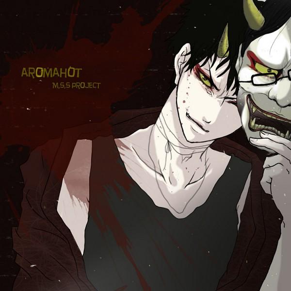 Tags: Anime, Pixiv Id 2726830, Aromahot, Oni Mask, Text: Character Group Name, Pixiv, Nico Nico Jikkyou, M.S.S Project