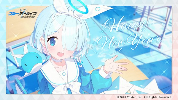 Tags: Anime, Blue Archive, Arona, Twitter, Official Art, Happy 2021, Wallpaper