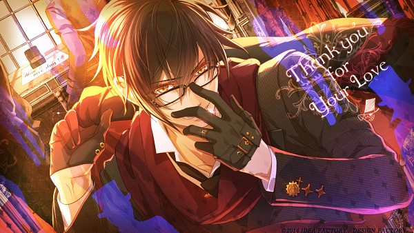 Tags: Anime, miko (Artist), IDEA FACTORY, Code: Realize ~Sousei no Himegimi~, Arsène Lupin (Code: Realize), Text: Thank You, Official Art