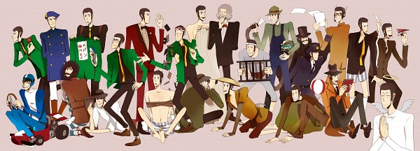 Tags: Anime, Pixiv Id 347173, Lupin III, Arsene Lupin III, Disguise, Pixiv, Fanart From Pixiv, Fanart