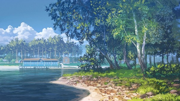 Tags: Anime, ArseniXC, Everlasting Summer, Still Life, No Character, Shore, HD Wallpaper, Facebook Cover, Pixiv, Wallpaper