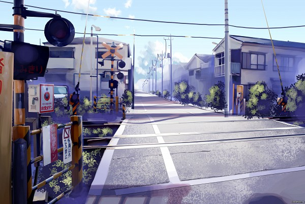 Tags: Anime, ArseniXC, Railroad Crossing, Railroad Tracks, Pixiv, Original