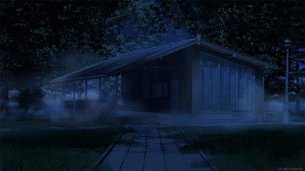 Tags: Anime, ArseniXC, Path, Still Life, Light Pole, Pixiv, Facebook Cover