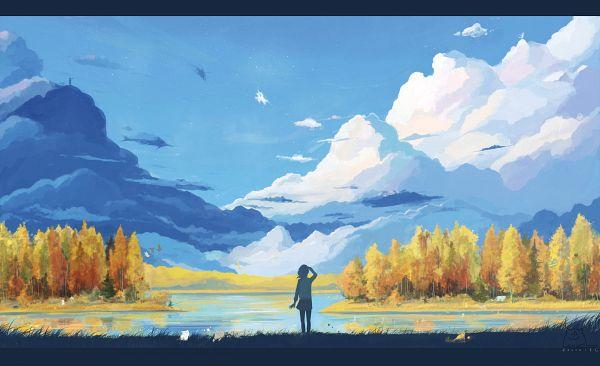 Tags: Anime, ArseniXC, Original, Wallpaper, deviantART, Pixiv