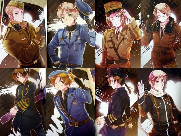 Tags: Anime, Himaruya Hidekaz, Axis Powers: Hetalia, ArteStella, Japan, North Italy, Russia, United Kingdom, China, United States, France, Germany, Scan