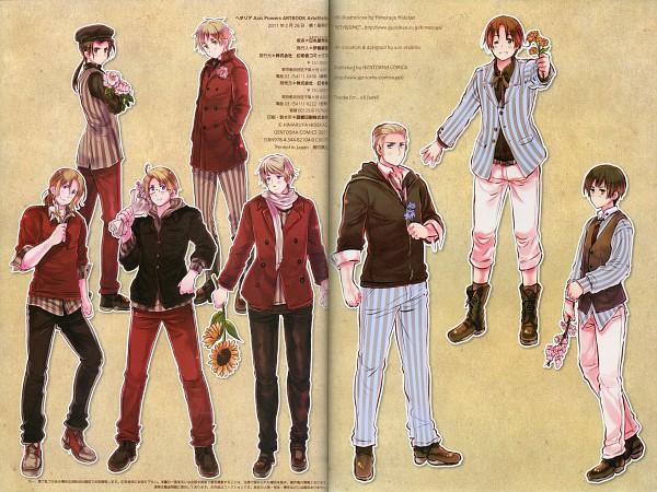 Tags: Anime, Himaruya Hidekaz, Axis Powers: Hetalia, ArteStella, Germany, Japan, North Italy, Russia, United Kingdom, China, United States, France, Official Art