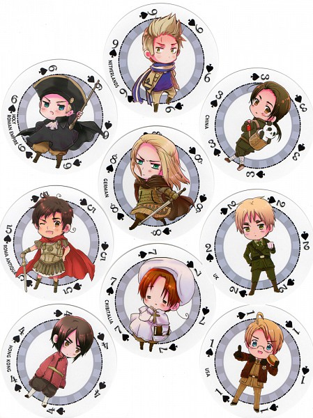 Tags: Anime, Himaruya Hidekaz, Axis Powers: Hetalia, Rome, China, Chibitalia, Hong Kong, Germania, United Kingdom, Holy Roman Empire, United States, Netherlands, North Italy