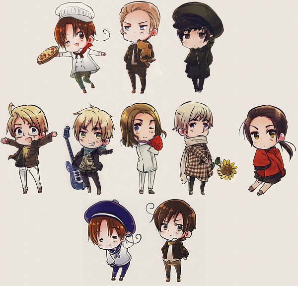 Tags: Anime, Himaruya Hidekaz, Axis Powers: Hetalia, ArteStella, North Italy, South Italy, Russia, United Kingdom, China, United States, France, Germany, Japan