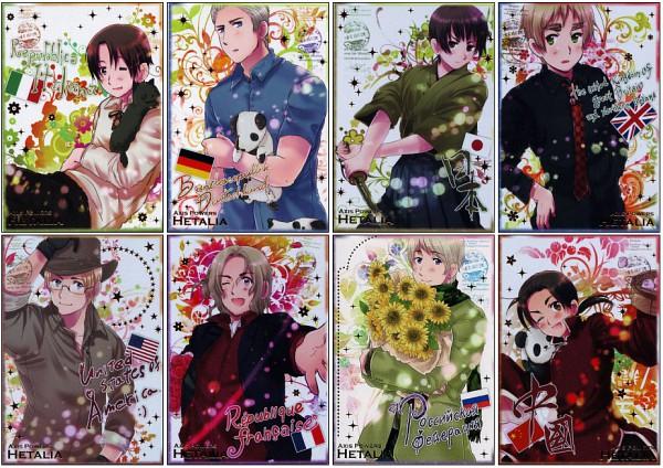 Tags: Anime, Himaruya Hidekaz, Axis Powers: Hetalia, ArteStella, United Kingdom, China, United States, France, Germany, Japan, North Italy, Russia, Official Art