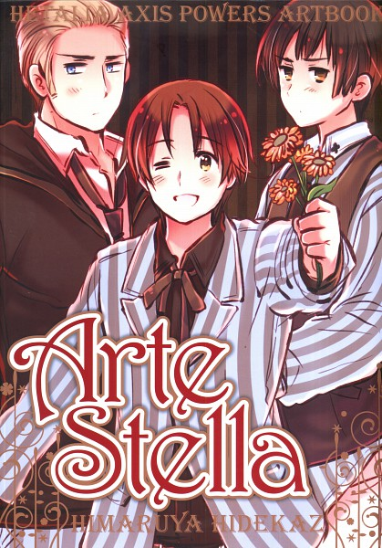 Tags: Anime, Himaruya Hidekaz, Axis Powers: Hetalia, ArteStella, Japan, Germany, North Italy, Mobile Wallpaper, Official Art, Scan, Artbook Cover, Axis Power Countries, Asian Countries