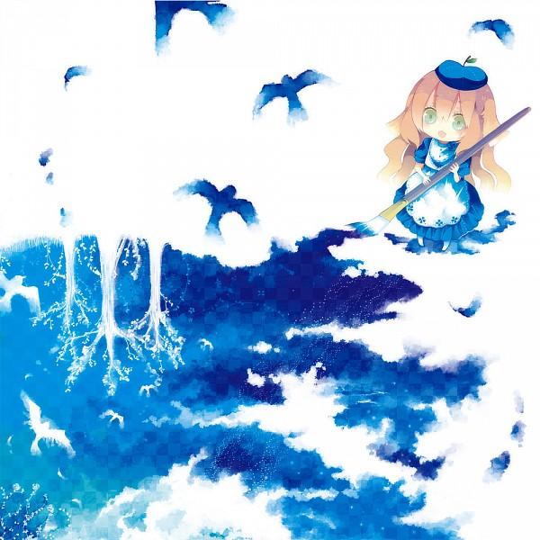 Tags: Anime, Aruya, Pixiv Girls Collection 2010, Pixiv Girls Collection, Painting (Action), Swallow, Oekaki Musume, Pixiv, Paint My Life, Original
