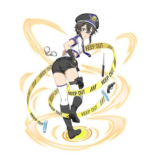 Tags: Anime, Bandai Namco Entertainment, Sword Art Online, Sword Art Online: Memory Defrag, Asada Shino, Revolver, PNG Conversion, Official Art, Shino Asada
