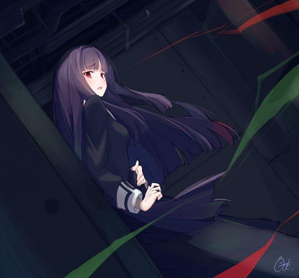 Tags: Anime, Pixiv Id 16136997, Kara no Kyoukai, Asagami Fujino, Hand on Stomach, Pixiv, Fanart, Fanart From Pixiv