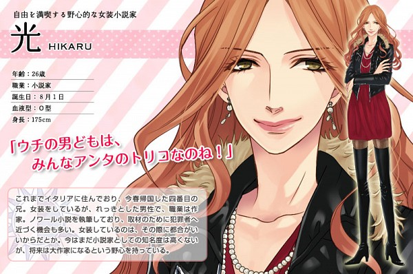 Tags: Anime, Udajo, IDEA FACTORY, BROTHERS CONFLICT, Asahina Hikaru, Its Not Crossdressing., All Girls (Genre Equality), Official Art, Character Profile