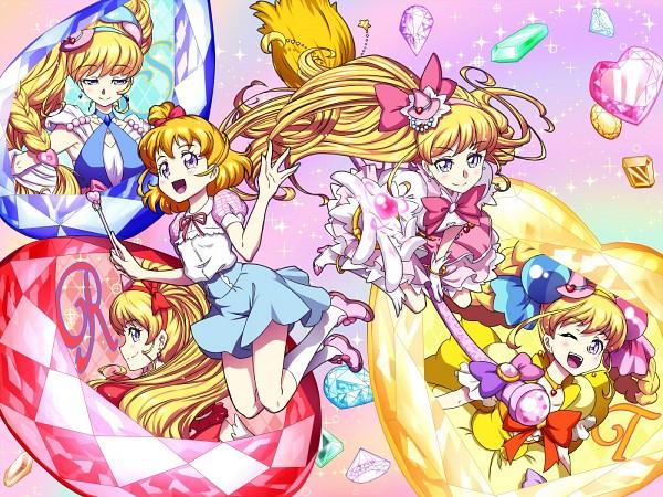 Tags: Anime, Pixiv Id 3411146, Mahou Tsukai Precure!, Asahina Mirai, Cure Miracle, Topaz, Blue Gem, Sapphire, Pixiv, Fanart, Fanart From Pixiv