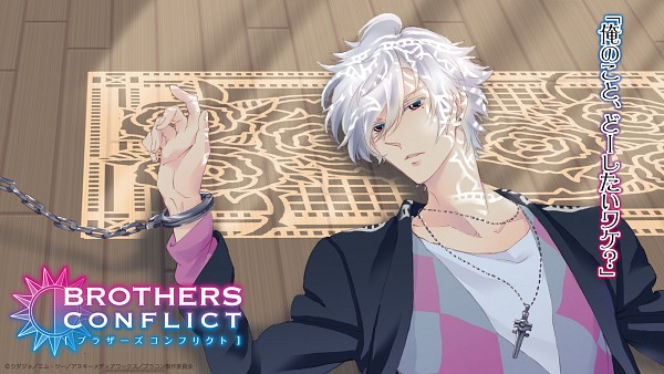 Tags: Anime, Brains Base (Studio), Geographic, BROTHERS CONFLICT, Asahina Tsubaki, Checkered Shirt, Official Wallpaper, HD Wallpaper, Wallpaper, Facebook Cover, End Cards, Official Art