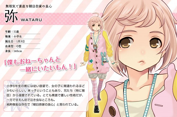 Tags: Anime, Udajo, IDEA FACTORY, BROTHERS CONFLICT, Asahina Wataru, Official Art, Character Profile