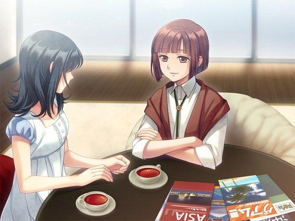 Tags: Anime, Tenkuu Sphere, QuinRose, MIO (Studio), Asaki Yume Mishi, Iori Saya, Kokuu (asaki Yume Mishi), CG Art, Official Art