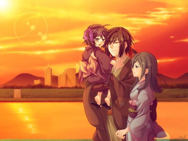 Tags: Anime, Asaki Yume Mishi, Shinonome Rin, Iori Saya, CG Art