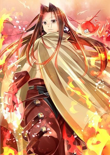 Tags: Anime, Kurose Nao, Shaman King, Spirit of Fire, Asakura Hao, Mobile Wallpaper, Pixiv, Fanart From Pixiv, Fanart