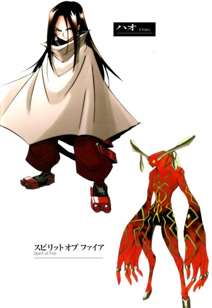 Tags: Anime, Hiroyuki Takei, Shaman King, Spirit of Fire, Asakura Hao, Mobile Wallpaper, Official Character Information, Official Art