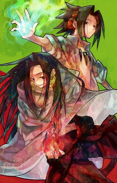 Tags: Anime, Kunino, Shaman King, Asakura Hao, Asakura Yoh, Fanart From Pixiv, Fanart, Mobile Wallpaper, Pixiv, Asakura Twins