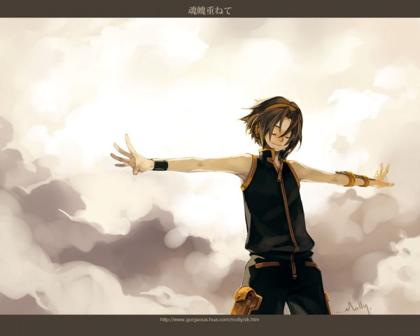 Tags: Anime, Pixiv Id 29325, Shaman King, Asakura Yoh, Pixiv, Wallpaper, Fanart