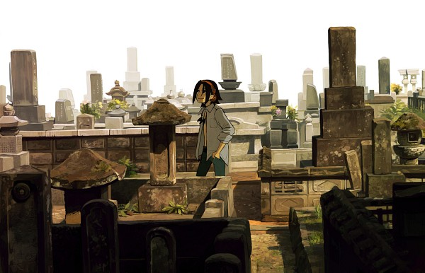 Tags: Anime, Shaman King, Asakura Yoh, 1500x1125 Wallpaper, Graveyard, Wallpaper