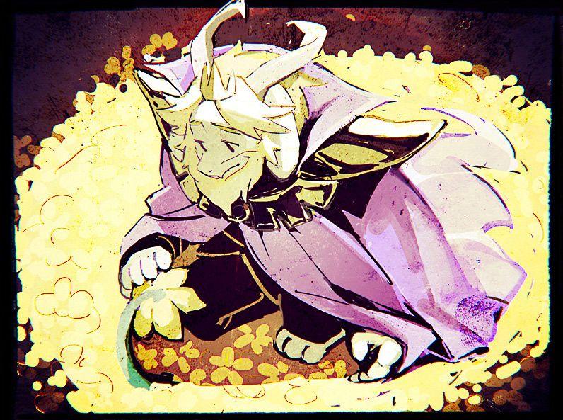 Tags: Anime, Undertale, Asgore Dreemurr, Fanart From Pixiv, Pixiv, Fanart