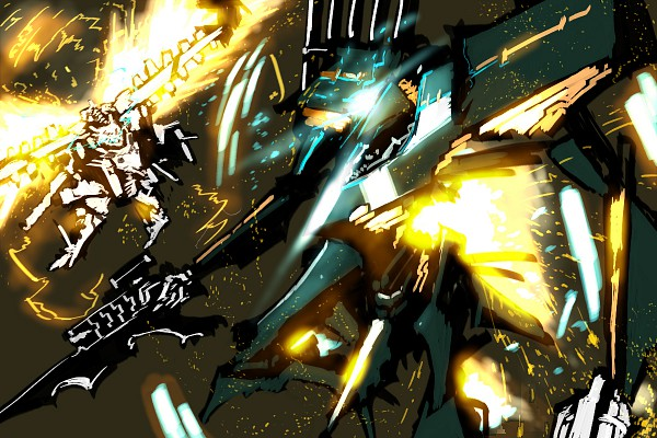 Tags: Anime, Asgr, Armored Core, Armored Core: For Answer, White Glint, Stasis, Shooting, Pixiv