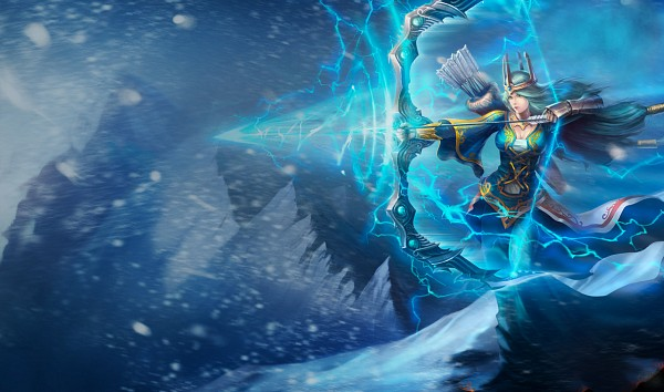 Tags: Anime, League of Legends, Ashe (League of Legends), Quiver, Official Art